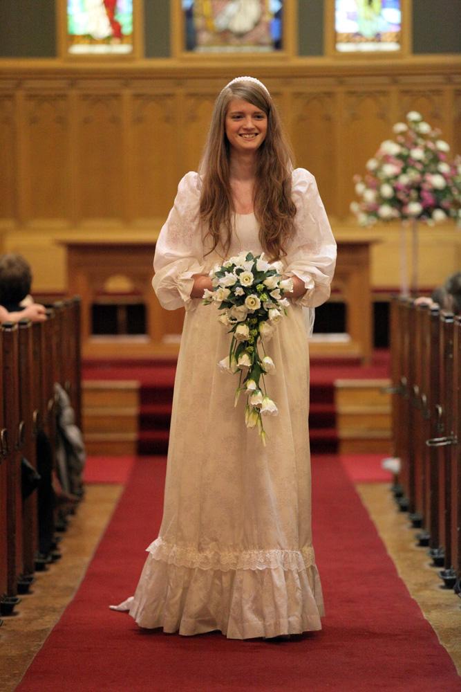 Emma Wearing The Wedding Dress Of Joan Taylor 1979