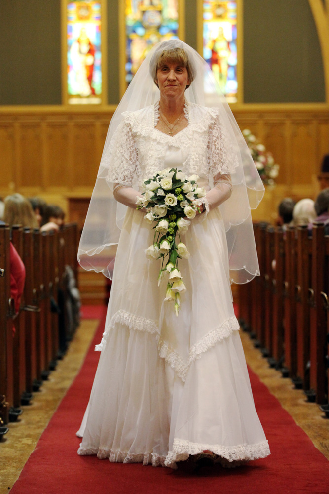 Ruth Hill Wearing Her Own Wedding Dress 1984