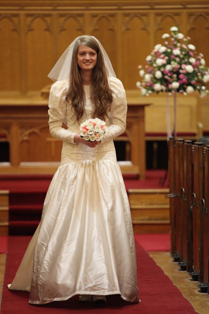 Emma Wearing The Wedding Dress Of Kate Davey 1990